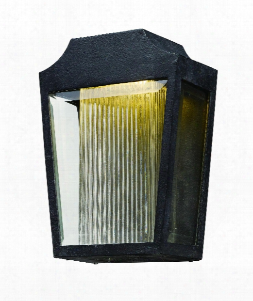 """Villa 9"""" Led 1 Light Outdoor Outdoor Wall Light In Anthracite"""