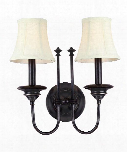 "Yorktown 14"" 2 Light Wall Sconce In Old Bronze"