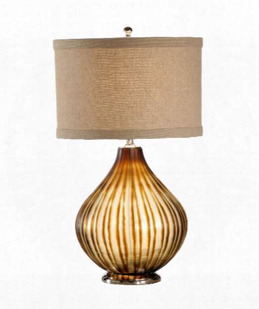 1 Light Table Lamp In Mouth Blown Glass