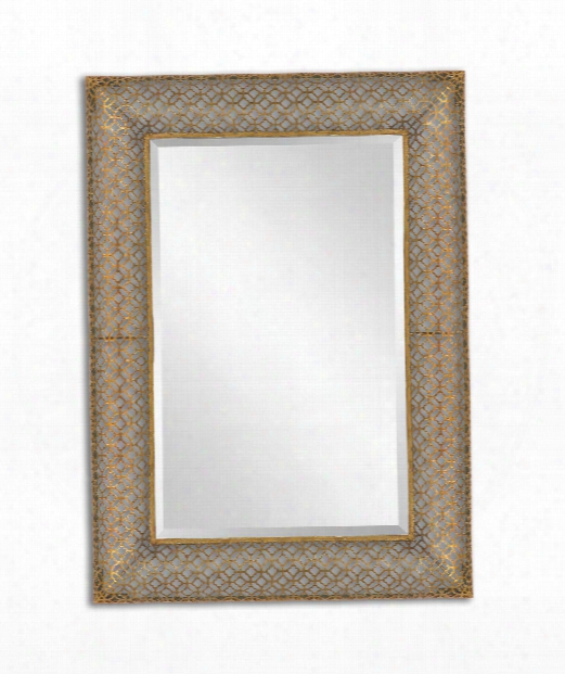 "Ariston 26"" Wall Mirror In Antique Gold"