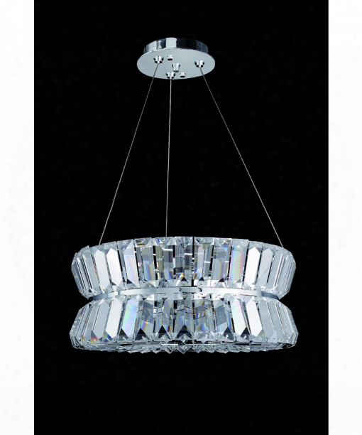 "Armanno 16"" 3 Light Large Pendant In Polished Chrome"