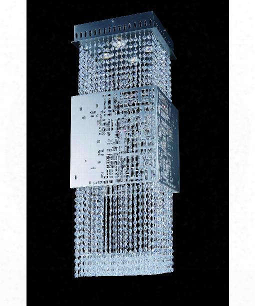 "Battista 12"" 4 Light Mini Pendant In Brushed Nickel"