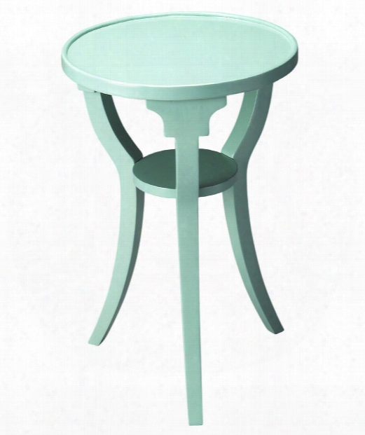 """Butler Loft 16"""" Accent Table In Mint Creme"""