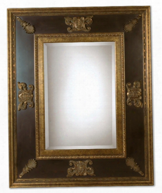 """Cadence 60"""" Wall Mirror In Painted Gold"""
