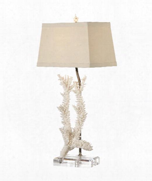 Cartiva 1 Light Table Lamp In Foam White
