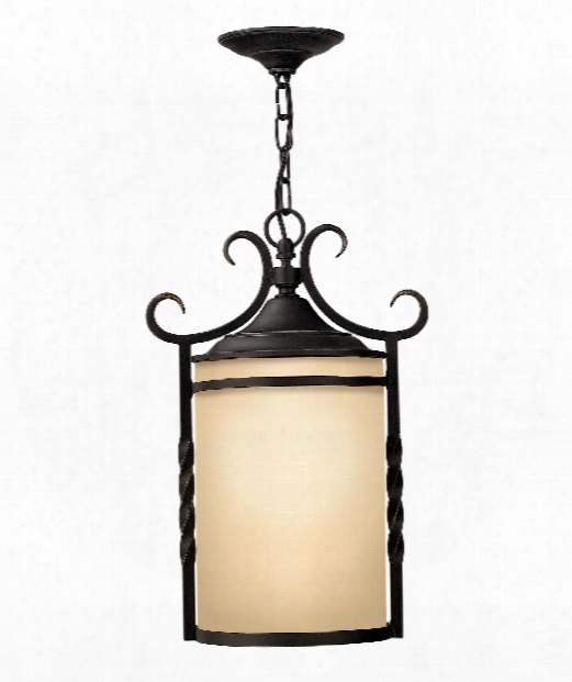 "Casa 12"" Led 1 Light Outdoor Hanging Lantern In Olde Black"