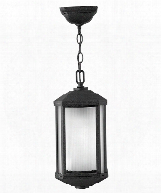 "Castelle 7"" 1 Light Outdoor Hanging Lantern In Black"