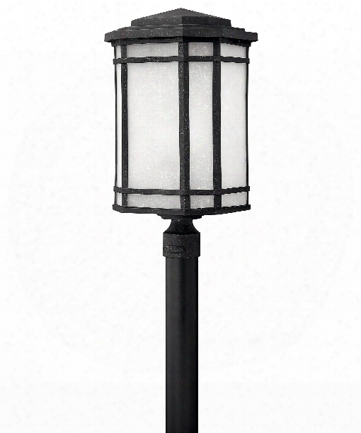 "Cherry Creek 12"" 1 Light Outdoor Outdoor Post Lamp In Vintage Black"