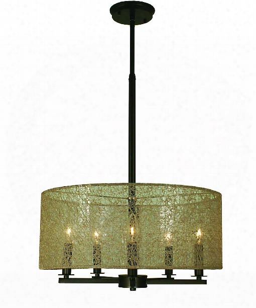 "Chloe 18"" 5 Light Mini Chandelier In Antiqu Ebrass"