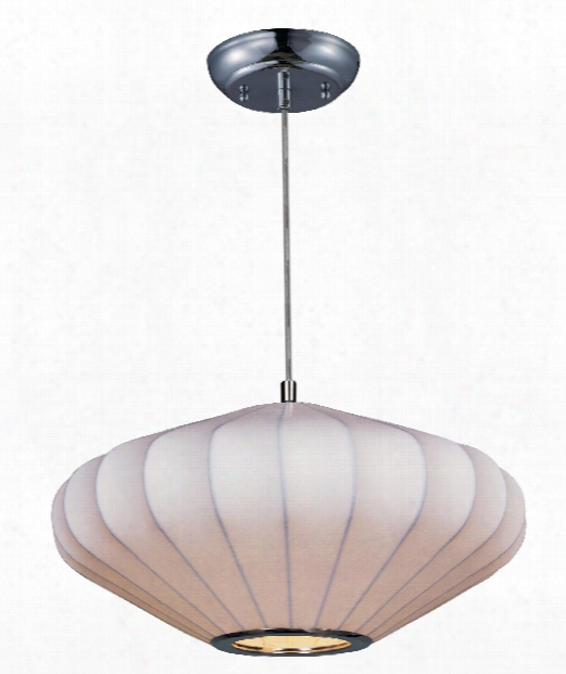 """Cocoon 16"""" 1 Light Large Pendant In Polished Chrome"""