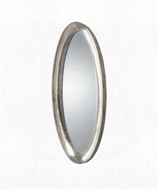 Copparo 22&quo; Wall Mirror In Hammered Metal-in A Plated Oxidized Silver