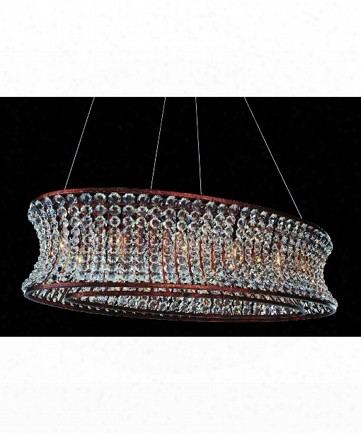 """Corsette 18"""" 12 Light Large Pendant In Tarnished Silver"""