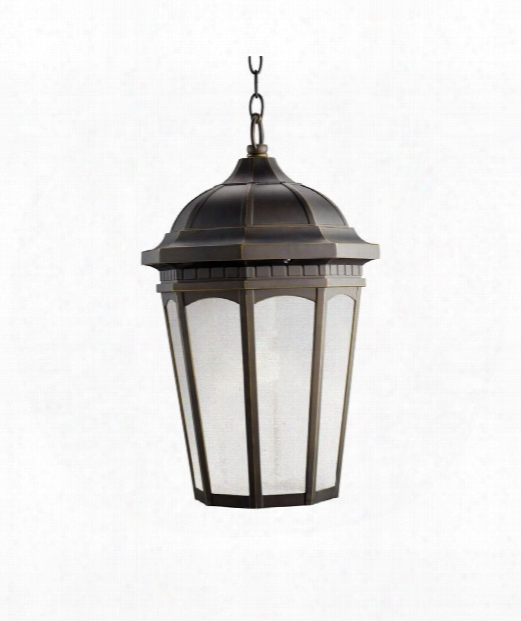 "Courtyard 13"" 1 Light Outdoor Hanging Lantern In Rubbed Bronze"