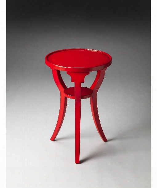 "Dalton 16"" Accent Table In Red"
