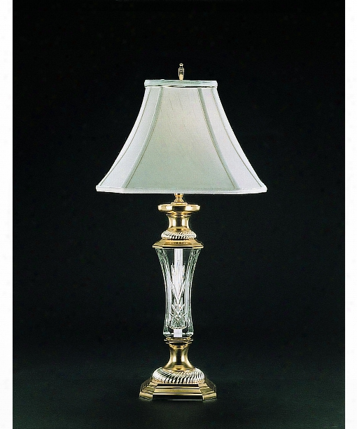 Florene Court 1 Light Table Lamp In Polished Brass With Silver Plated Accents