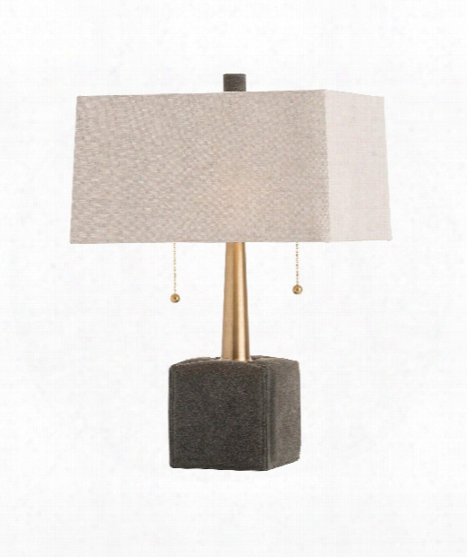 "Gus 13"" 2 Light Table Lamp In Moss Gray"