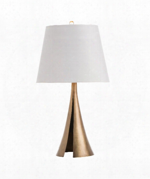 "Hagar 16"" 1 Light Table Lamp In Antique Brass"