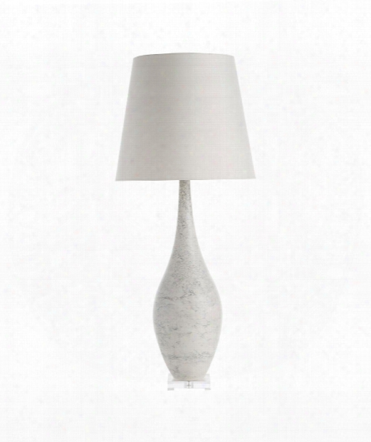 """Hunter 18"""" 1 Light Table Lamp In Heather Marbled Porcelain"""