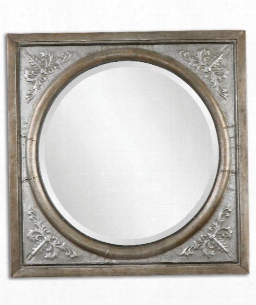 "Ireneus 34"" Wall Mirror In Silver"