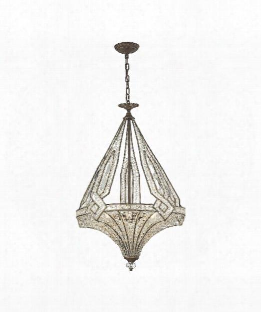 """Jausten 20"""" 5 Light Large Pendant In Antique Bronze"""
