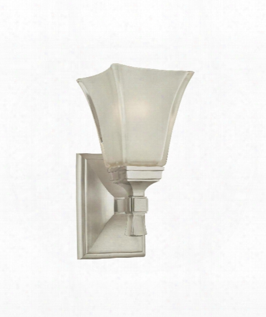 "Kirklan D 6"" 1 Light Wall Sconce In Satin Nickel"