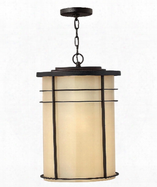 "Ledgewood 13"" 1 Light Outdoor Hang Ing Lantern In Museum Bronze"