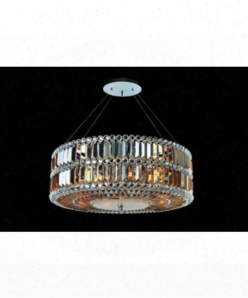 Luxor 6 Light Mini Pendant In Polished Chrome