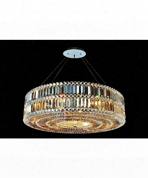 Luxor 9 Light Mini Pendant In Polished Chrome