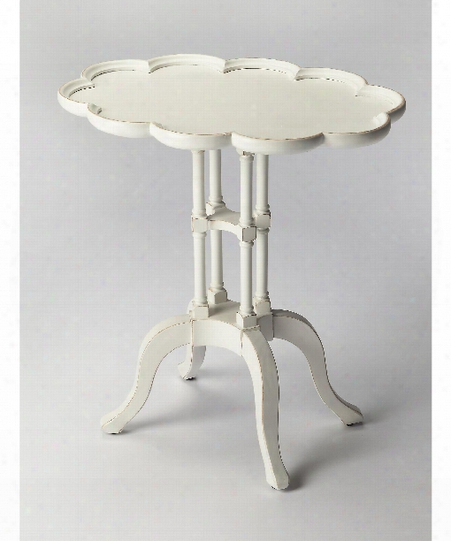 """Masterpiece 22"""" Accent Table In Cottage White"""