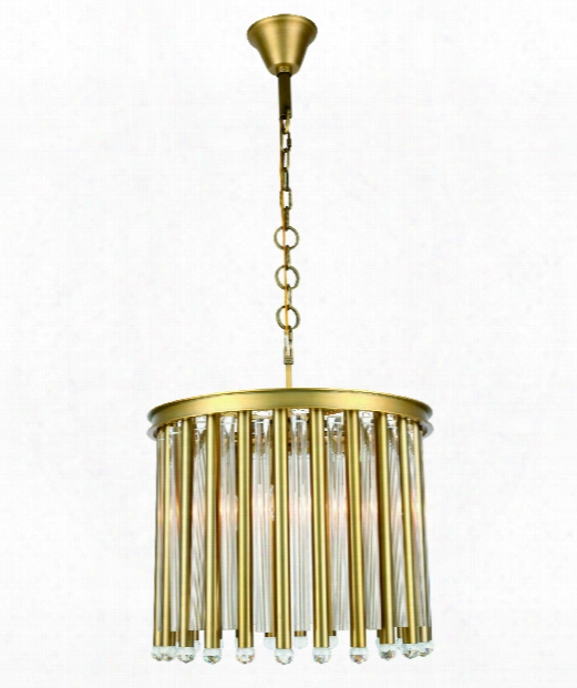"""Maxwell 20"""" 4 Ligh Large Pendant In Burnished Brass"""