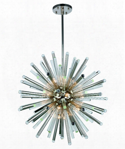 "Maxwell 36"" 21 Light Large Pendant In Polished Nickel"