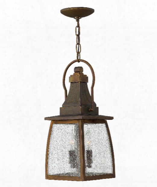 "Montauk 7"" 2 Light Outdoor Death By The Halter Lantern In Sienna"