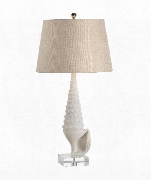 Neptune 1 Light Table Lamp In Textured Matte White