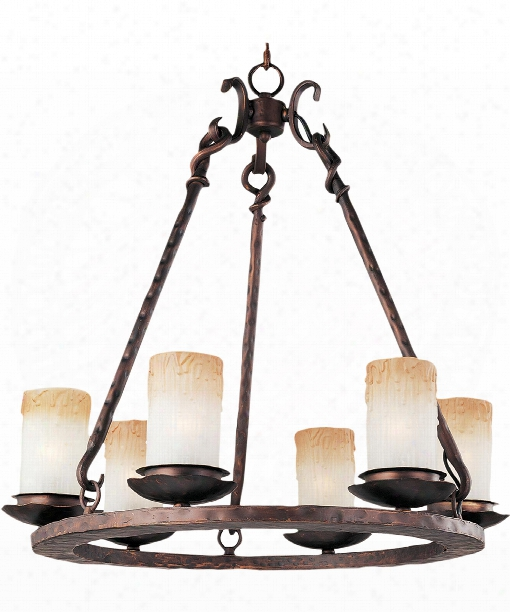 "Notre Dame 24"" 6 Light Chandelier In Oil Rubbed Bronze"