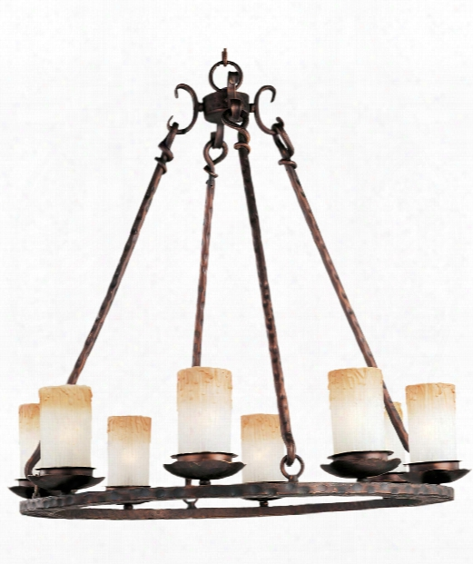 "Notre Dame 30"" 8 Light Chandelier In Oil Rubbed Bronze"