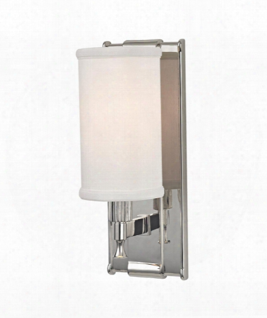 "Palmdale 5"" 1 Light Wall Sconce In Polished Nickel"