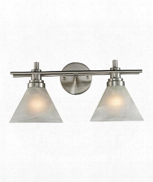 "Pemberton 18"" Led 2 Light Bath Vanity Light In Brushed Nickel"