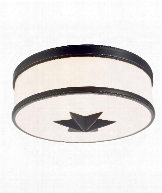"Seneca 15"" 3 Light Flush Mount In Ol D Bronze"