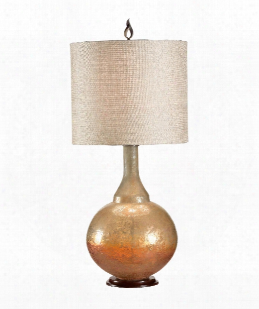 Sunset 1 Light Table Lamp In Bronze And Brass