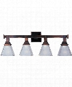 "Brentwood 28"" 4 Light Bath Vanity Light in Oil Rubbed Bronze"