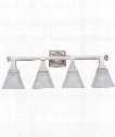 "Brentwood 28"" 4 Light Bath Vanity Light in Satin Nickel"