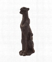 "Cheetah Statue 11"" Figurine in Java Brown-Merlot"