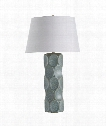 "Gunderson 19"" 1 Light Table Lamp in Sky Blue Reactive Glaze"