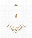 "Hive 31"" 1 Light Large Pendant in Gold"