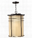 "Ledgewood 13"" 1 Light Outdoor Hanging Lantern in Museum Bronze"
