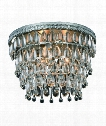 "Nordic 15"" 3 Light Flush Mount in Antique Silver"