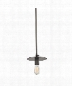 "Walker 8"" 1 Light Mini Pendant in Old Bronze"