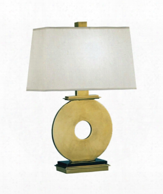 """Tic-tac-toe 8"""" 1 Light Table Lamp In Natural Brass"""