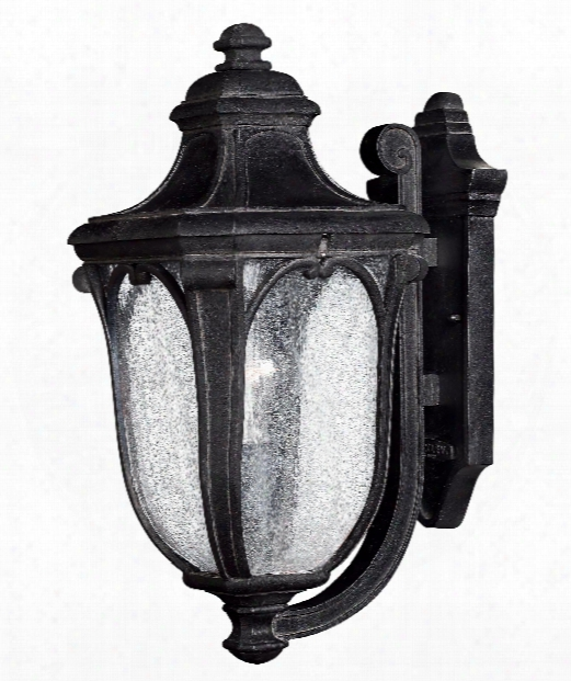 "Trafalgar 8"" 1 Light Outdoor Outdoor Wall Light In Museum Black"