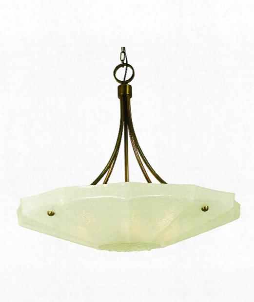 """Veronique 29"""" 6 Light Large Pendant In Antique Brass"""
